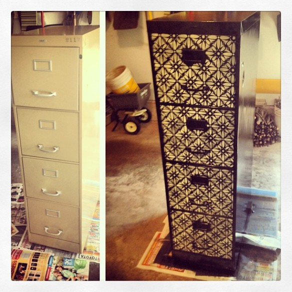 Refurbished filing cabinet Upcycled metal filing cabinet